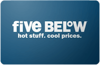 Five Below Gift Card