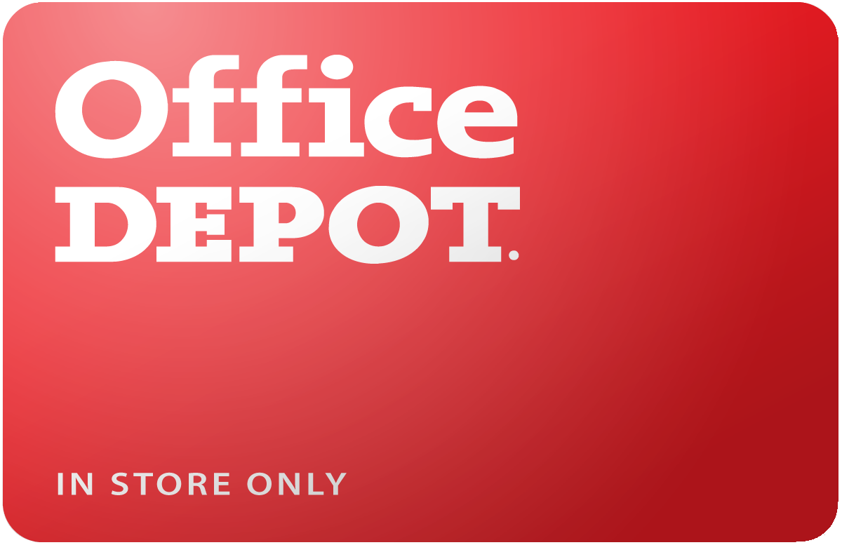 Office Depot In Store Only Gift Card